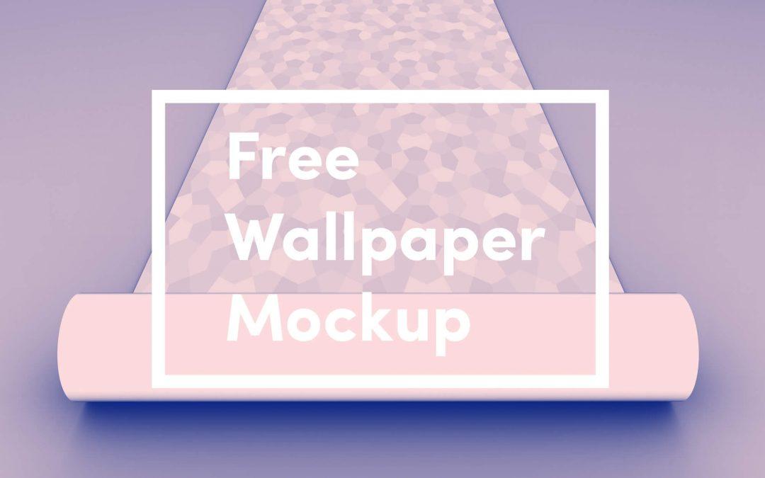 Free Wallpaper Mockup PSD