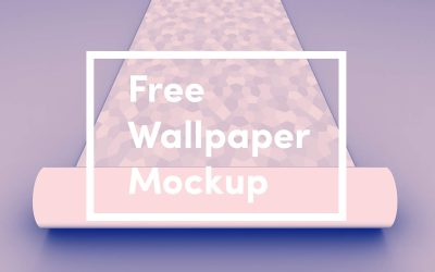 Free Wallpaper Mockup PSD